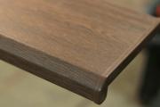 Подоконник Комфорт, цвет орех, матовый (2 капиноса) 700 мм