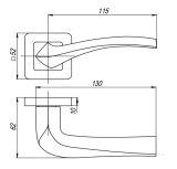 Ручка раздельная VESTA QR SN/CP-3 матовый никель/хром PUNTO (на раздельном основании) - Изображение 1