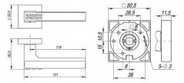 Ручка раздельная CRYSTAL FLASH DM SN/CP-3 матовый никель/хром FUARO - Изображение 2
