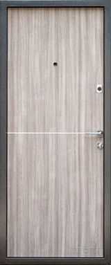 Входная дверь Форт Нокс, Гранд New, металл/мдф Муар 7024+DA-10 алюминий молдинг/Дуб кантри - Изображение 1