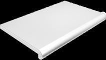 Подоконник Plastolit, цвет белый глянец (2 капиноса) 600 мм