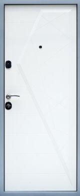 Входная дверь Форт Нокс, Стандарт, Айсберг, мдф/мдф графит/белый мат - Изображение 2