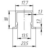 Нижняя направляющая DIY Comfort 60/80/1,3/1500 bottom track (1,5 м)(CFG-778) ARMADILLO - Изображение 1