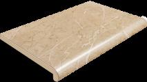 Подоконник Plastolit, цвет бежевый мармур глянец (2 капиноса) 600 мм