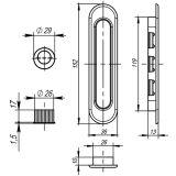 Ручка для раздвижных дверей SH010-AB-7 бронза ARMADILLO