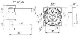 Ручка раздельная ETHNO KM SN/CP-3 FUARO - Изображение 2