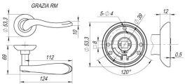 Ручка раздельная GRAZIA RM AB/GP-7 FUARO - Изображение 2