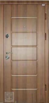 Входная дверь Форт Нокс, Стандарт, мдф/мдф орех шоколадный DG-36/дуб шимо светлый DG-36 - Изображение 1