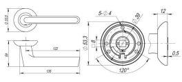 Ручка раздельная FOCUS RM SN/CP-3 матовый никель/хром FUARO