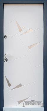 Входная дверь Форт Нокс, Стандарт, Алькор, металл/мдф Серый муар 7024 + нерж. Вставки/Бетон кремовый DL 38 - Изображение 1