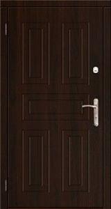 Входная двери металл/мдф модель металл/мдф , порошковая емаль/орех темный винорит, глухое - Изображение 1