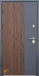 Входная дверь Форт Нокс, Статус, металл/металл S3 дуб темный+графит