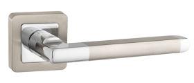 Ручка раздельная PLUTON QR SN/CP-3 матовый никель/хром PUNTO (на раздельном основании)