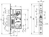 Корпус врезного замка c защёлкой V10/C-60.85.3R14 FUARO (для металлических дверей) - Изображение 1