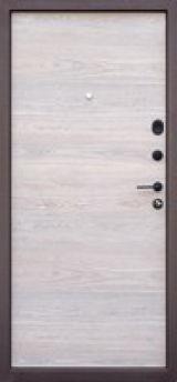 Входная дверь Форт Нокс, Стрит, металл/мдф муар8017+ никель молдинг/астана розвуд горизонт - Изображение 1